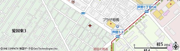 北海道釧路市愛国東2丁目48周辺の地図