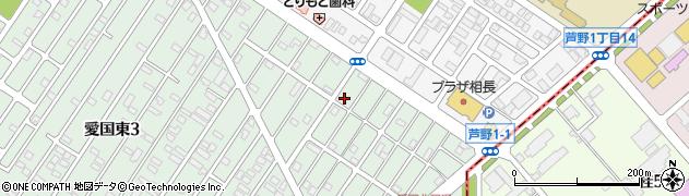 北海道釧路市愛国東2丁目52周辺の地図