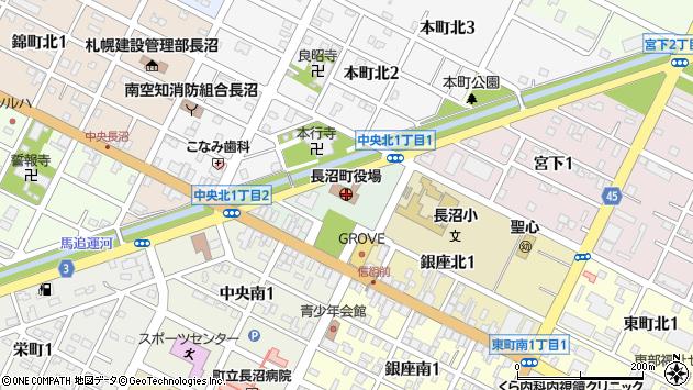 〒069-1300 北海道夕張郡長沼町(以下に掲載がない場合)の地図
