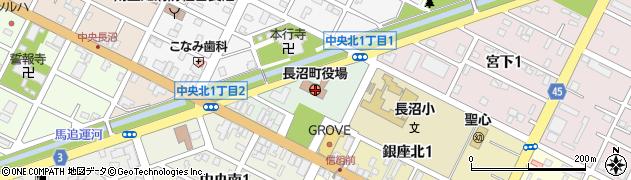 北海道夕張郡長沼町周辺の地図