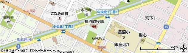 北海道長沼町(夕張郡)周辺の地図
