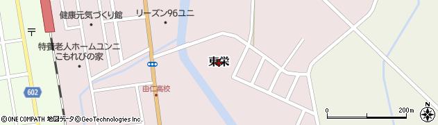 北海道由仁町(夕張郡)東栄周辺の地図