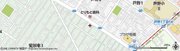 北海道釧路市愛国東2丁目54周辺の地図