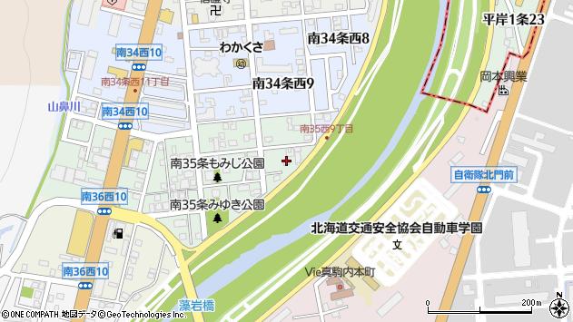 〒005-0035 北海道札幌市南区南三十五条西の地図