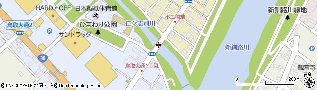 不二橋周辺の地図