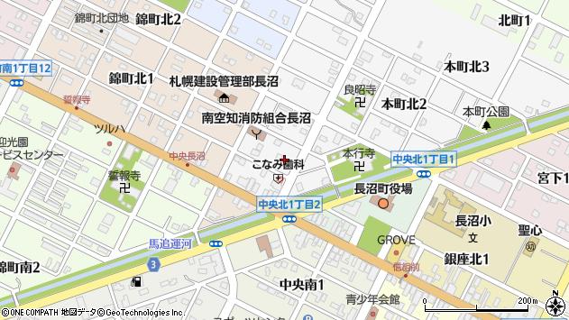 〒069-1333 北海道夕張郡長沼町本町の地図