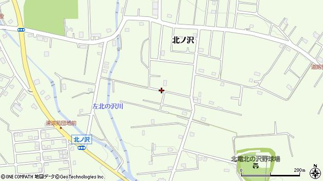 〒005-0832 北海道札幌市南区北ノ沢の地図
