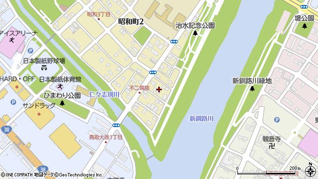 〒084-0903 北海道釧路市昭和町の地図