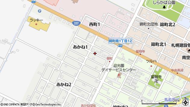 〒069-1335 北海道夕張郡長沼町あかねの地図