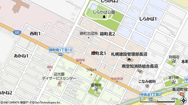 〒069-1334 北海道夕張郡長沼町錦町北の地図