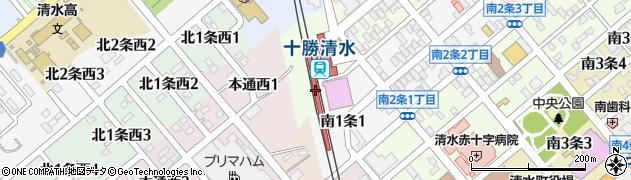 北海道上川郡清水町周辺の地図