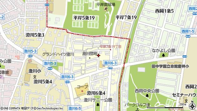 〒005-0006 北海道札幌市南区澄川六条の地図
