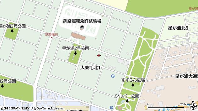 〒084-0918 北海道釧路市大楽毛北の地図