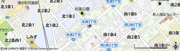 本通3周辺の地図