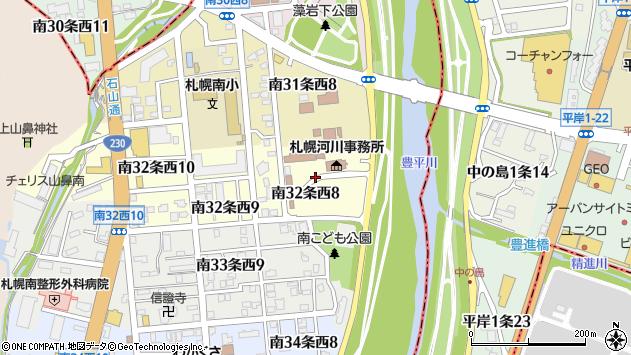 〒005-0032 北海道札幌市南区南三十二条西の地図