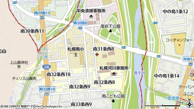 〒005-0031 北海道札幌市南区南三十一条西の地図