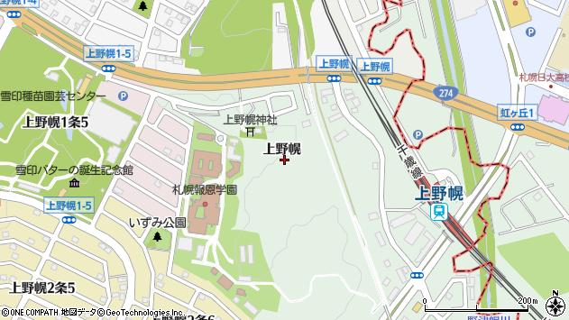 〒004-0039 北海道札幌市厚別区厚別町上野幌の地図