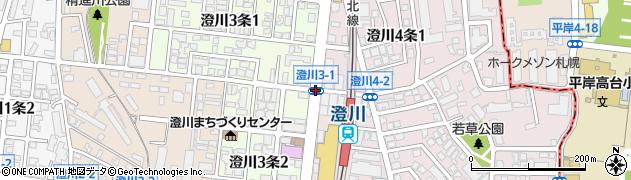 澄川3‐1周辺の地図