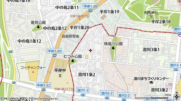 〒005-0001 北海道札幌市南区澄川一条の地図