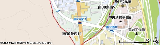 南29西11周辺の地図