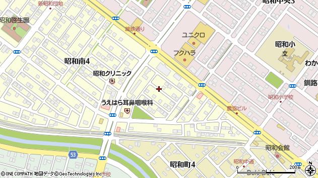 〒084-0909 北海道釧路市昭和南の地図