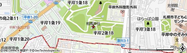 相馬神社周辺の地図