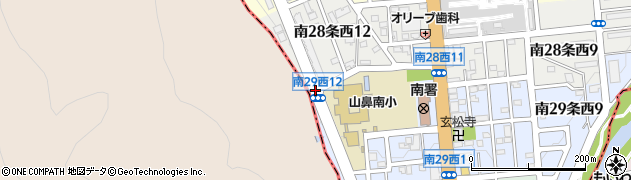 南29西12周辺の地図