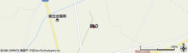 北海道栗山町(夕張郡)継立周辺の地図