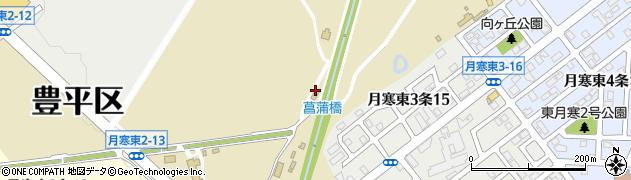 北海道札幌市豊平区月寒東3条周辺の地図