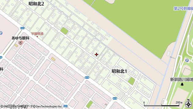 〒084-0901 北海道釧路市昭和北の地図