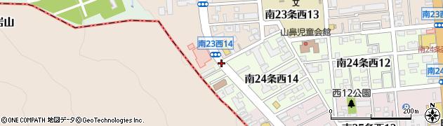 南23西15周辺の地図