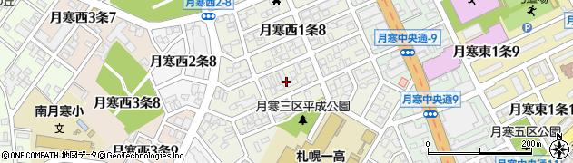 北海道札幌市豊平区月寒西1条周辺の地図