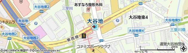 北海道札幌市厚別区周辺の地図
