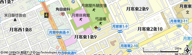 北海道札幌市豊平区月寒東1条周辺の地図