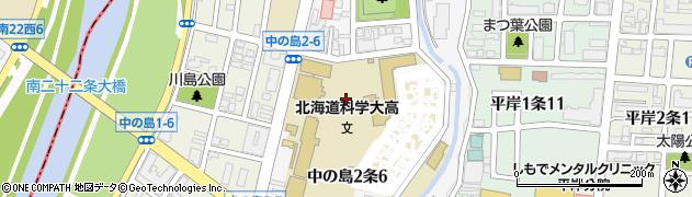 北海道札幌市豊平区中の島2条周辺の地図