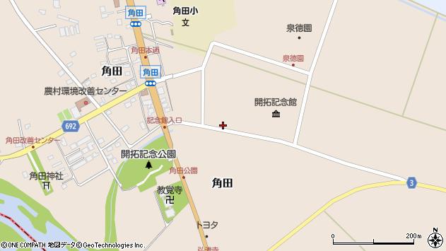 〒069-1524 北海道夕張郡栗山町角田の地図