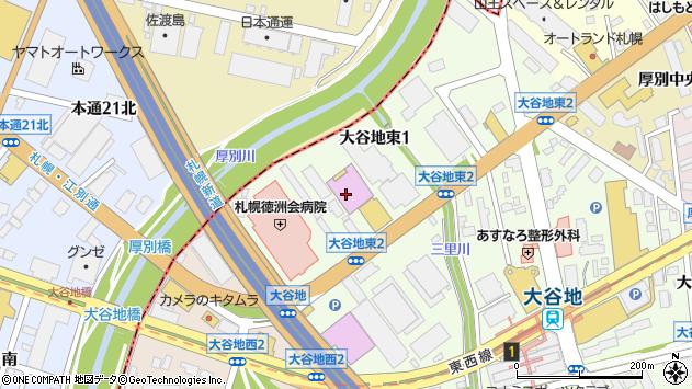 〒004-0041 北海道札幌市厚別区大谷地東の地図