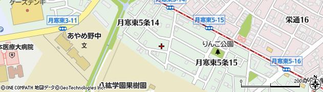 北海道札幌市豊平区月寒東5条周辺の地図