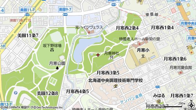 〒062-0023 北海道札幌市豊平区月寒西三条の地図