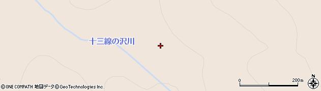 十三線の沢川周辺の地図