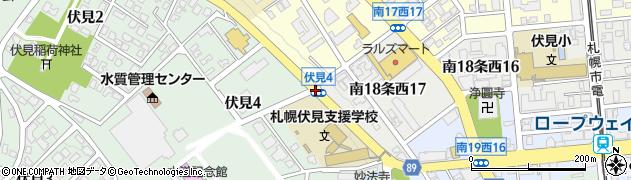 伏見4周辺の地図