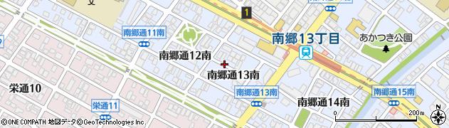 北海道札幌市白石区南郷通13丁目南周辺の地図