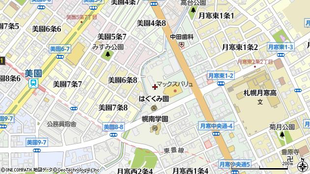 〒062-0021 北海道札幌市豊平区月寒西一条の地図