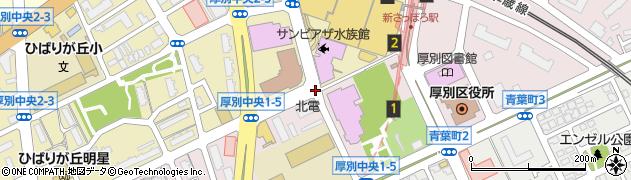 厚別中央2‐5周辺の地図