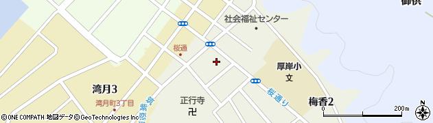大厚寺周辺の地図