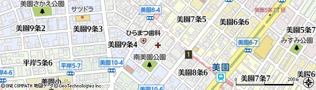 北海道札幌市豊平区美園8条周辺の地図