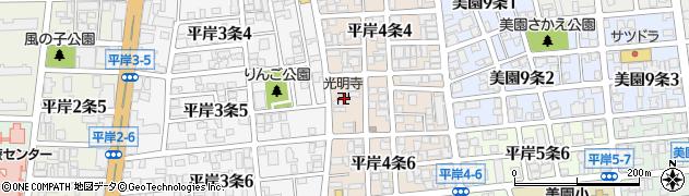 般若苑光明寺周辺の地図