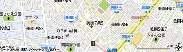 北海道札幌市豊平区美園7条周辺の地図