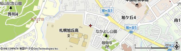 北海道札幌市中央区旭ケ丘周辺の地図