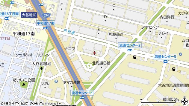 〒003-0030 北海道札幌市白石区流通センターの地図